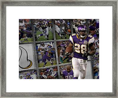 Adrian Peterson Minnesota Vikings Framed Print by Joe Hamilton