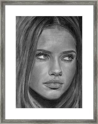 Adriana Lima 2 Framed Print