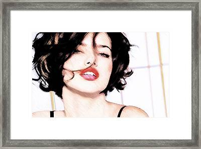 Adriana Lima Framed Print