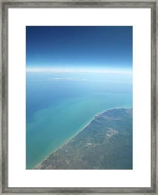 Adriatic Sea From Space Framed Print by Detlev Van Ravenswaay