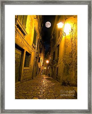 Adriatic Street Framed Print