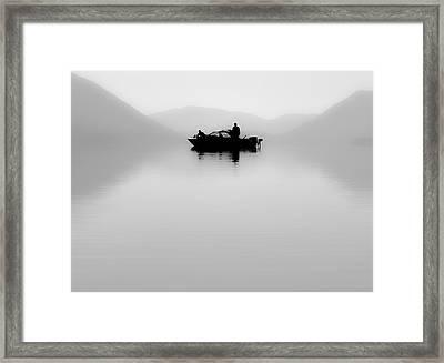 Adrift Framed Print by Aaron Aldrich