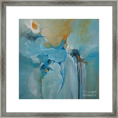 Framed Print featuring the painting aDrift I by Elis Cooke
