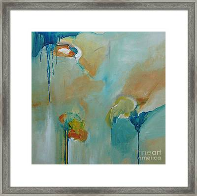 Framed Print featuring the painting aDrift II by Elis Cooke