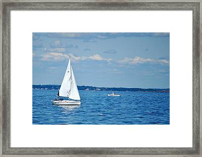 Adrift In The Atlantic Framed Print