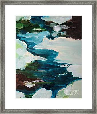 Framed Print featuring the painting aDrift IV by Elis Cooke