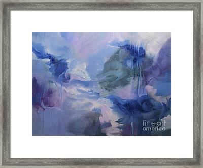 Framed Print featuring the painting aDrift IX by Elis Cooke