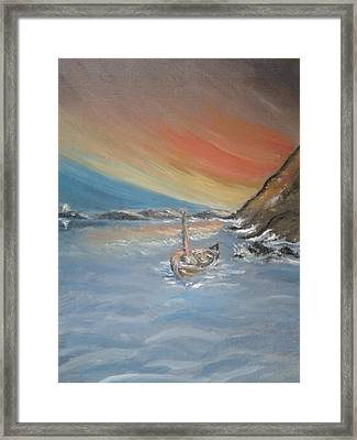 Framed Print featuring the painting Adrift by Teresa White