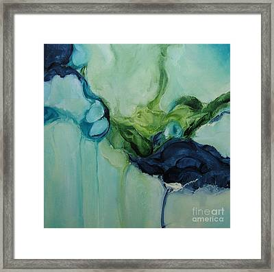 Framed Print featuring the painting aDrift VII by Elis Cooke