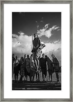 Framed Print featuring the photograph Adumu #3 by Antonio Jorge Nunes