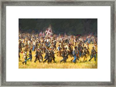 Advancing To The Front Framed Print