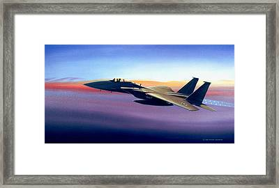 Advantage Eagle Framed Print by Michael Swanson