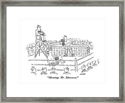 Advantage Mr. Edmonson Framed Print by Robert Mankoff
