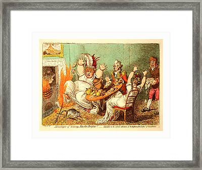 Advantages Of Wearing Muslin Dresses, Gillray Framed Print by English School