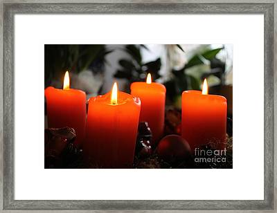 Framed Print featuring the photograph Advent Candles Christmas Candle Light by Paul Fearn