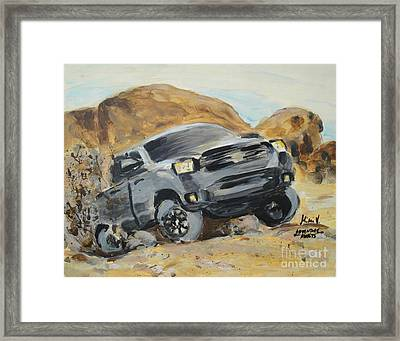 Framed Print featuring the painting Adventure Awaits by Maria Langgle