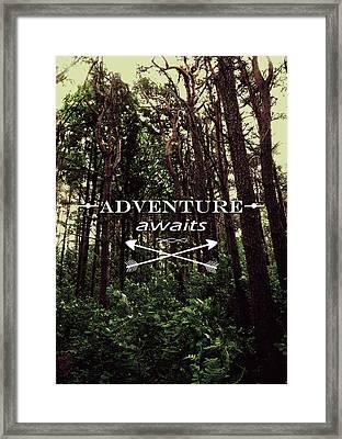 Adventure Awaits Framed Print by Nicklas Gustafsson