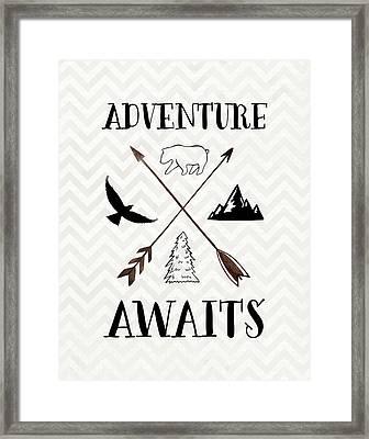 Adventure Awaits Framed Print by Tara Moss