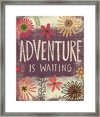 Adventure Is Waiting Framed Print by Katie Doucette
