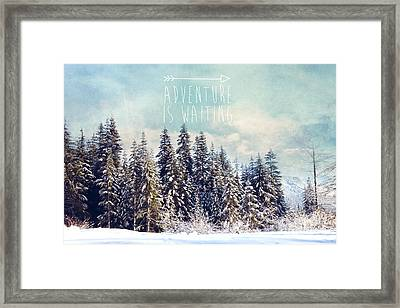 Framed Print featuring the photograph Adventure Is Waiting by Sylvia Cook