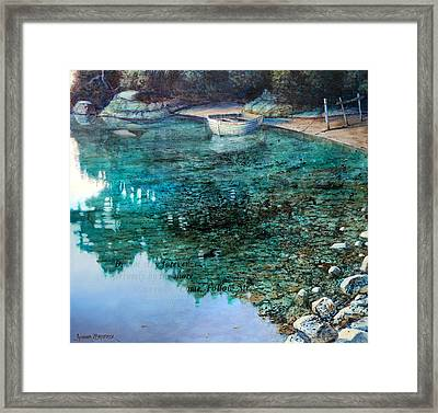 Adventure  Karaka Bay Great Barrier Island Framed Print
