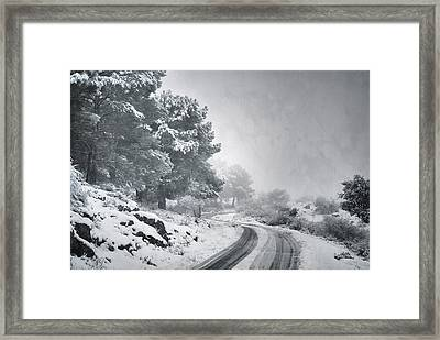 Adventure On The Road Retro Framed Print