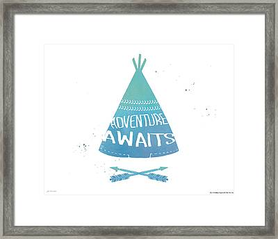 Adventure Teepee Framed Print by Jo Moulton