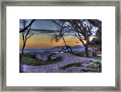 Adventures At Sunset Beach Framed Print