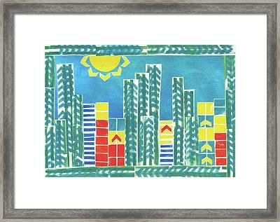 On The Sunnyside Framed Print