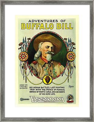Adventures Of Buffalo Bill Framed Print