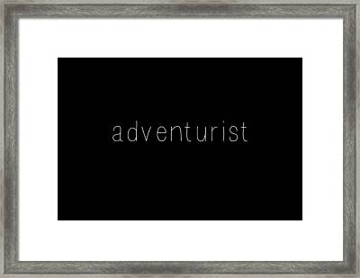 Adventurist Framed Print