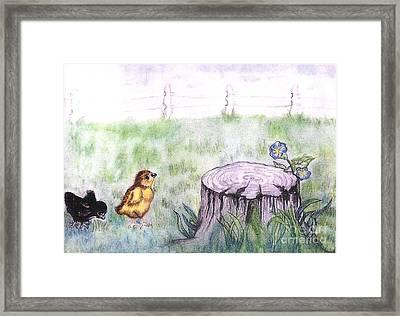 Adventurous Chicks Framed Print