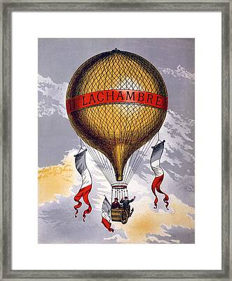 Advertisement For Balloons Manufactured Framed Print