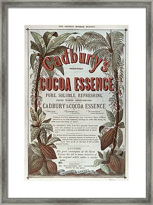 Advertisement For Cadburs Cocoa Essence From The Graphic Framed Print by English School