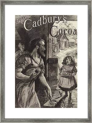 Advertisement For Cadburys Drinking Cocoa Framed Print