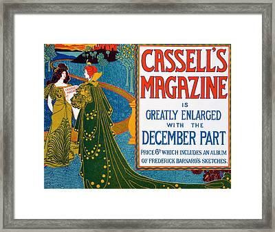 Advertisement For Cassells Magazine Framed Print