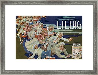 Advertisement For Extractum Carnis Liebig Framed Print by English School