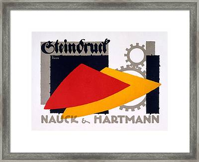 Advertisement For Nauck And Hartmann Framed Print by Carlo Egler