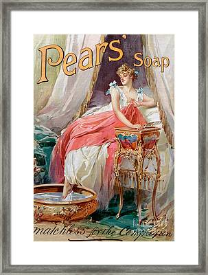 Advertisement For Pears Soap Framed Print by English School