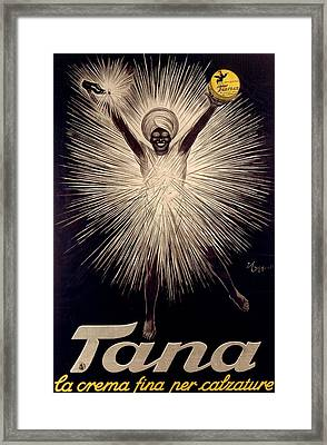 Advertisement For Tana Shoe Polish Framed Print by  Leonetto Cappiello