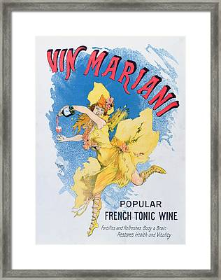 Advertisement For Vin Mariani From Theatre Magazine Framed Print by English School
