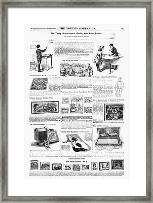 Advertisement Toys, 1890 Framed Print by Granger