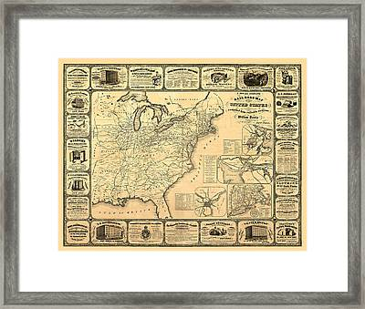 Advertising Map Framed Print by Gary Grayson