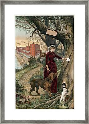 Advertising Poster, C1886 Framed Print