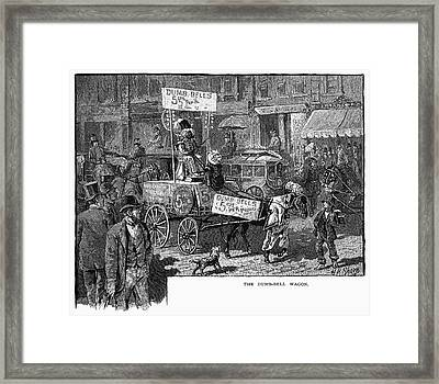 Advertising Wagon, 1880 Framed Print by Granger