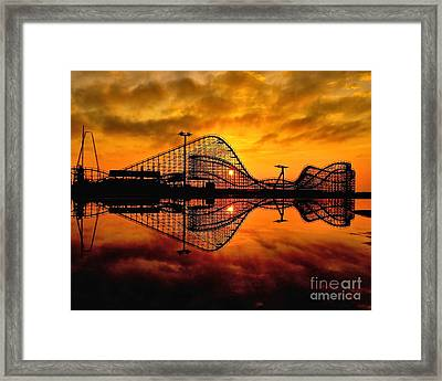 Adventure Pier At Sunrise Framed Print by Nick Zelinsky