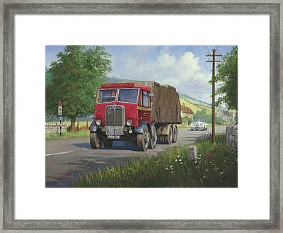 Aec Mammoth Major In Devon Framed Print by Mike  Jeffries