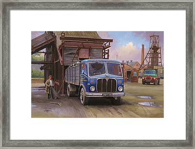 Aec Mercury Tipper. Framed Print by Mike  Jeffries