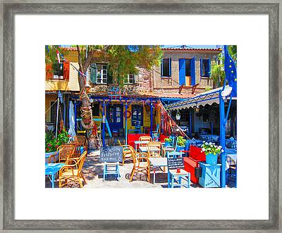 Aegean Colors Framed Print by Andreas Thust