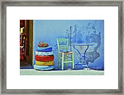 Aegean Colours Framed Print